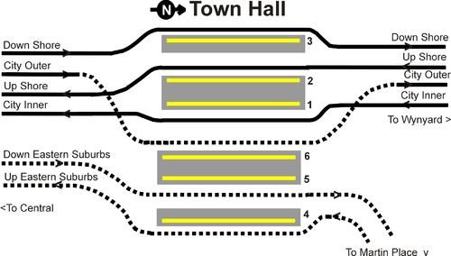 Town Hall Station Map Town Hall railway station, Sydney   Wikipedia Town Hall Station Map