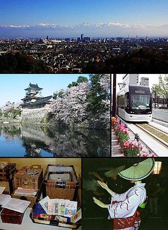 Toyama (city) - Image: Toyama montage
