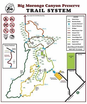 Big Morongo Canyon Preserve - Image: Trail Map 2