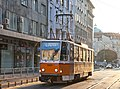 Tram in Sofia near Palace of Justice 2012 PD 043.jpg