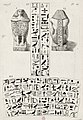 Transcription of hieroglyphs on an Egyptian statue by Count Caylus, 1767.jpg