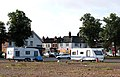 Traveller's caravans on car park near Rugby railway station - geograph.org.uk - 1420762.jpg