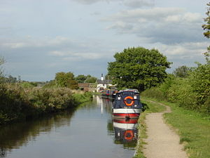 Trent and Mersey Canal - The Trent and Mersey Canal near Branston Water Park
