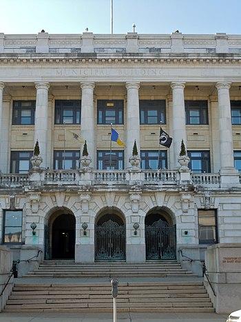 English: Trenton City Hall on the NRHP since J...