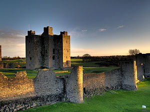 Ireland - Remains of the 12th-century Trim Castle in County Meath, the largest Norman castle in Ireland