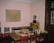 Study where the attack on Leon Trotsky took place.