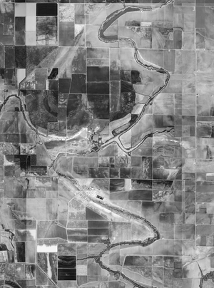 Tucker Unit - Aerial view of the Tucker Unit, U.S. Geological Survey, February 26, 1994