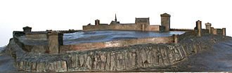 Tønsberg Fortress - A model displaying how the castle might have looked like during the middle ages