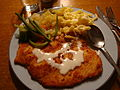 Turkey Schnitzel with Spatzle and vegetables.JPG