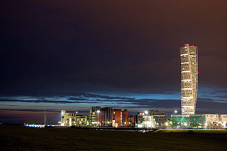 Turning Torso - Image: Turning torso by night 1