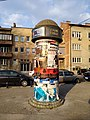 Tuzla - Advertising column in front of the theater (2019).jpg