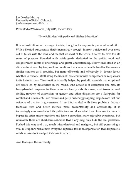 File:Two Solitudes Wikipedia and Higher Education.pdf