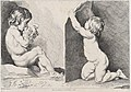 Two nude children eating grapes; from New Book of Children MET DP876428.jpg