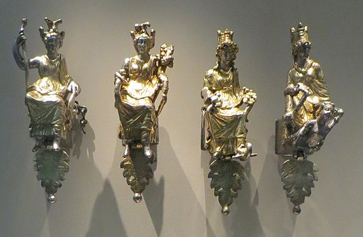 Four Tychai from the Esquiline Treasure, Shown in the British Museum, Wikimedia Commons