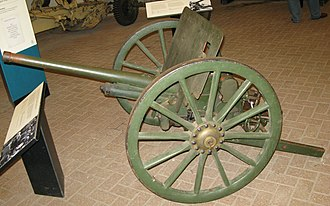 Type 94 37 mm anti-tank gun - Type 94 37 mm AT gun at Royal Armouries at Fort Nelson, Hampshire, England