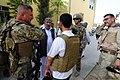 U.S. Army Lt. Col. Anthony Ulrich, left, a civil affairs commander with the Farah Provincial Reconstruction Team (PRT), meets with Abdul Ghafaar, second from left, the Farah chief prosecutor, in Farah, Farah 120829-N-II659-0990.jpg