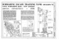 U.S. Naval Submarine Base, New London Submarine Escape Training Tank, Albacore and Darter Roads, Groton, New London County, CT HAER CONN,6-GROT,3A- (sheet 1 of 3).png