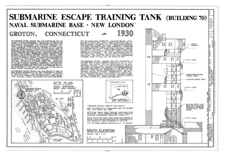 File U S Naval Submarine Base New London Submarine Escape Training
