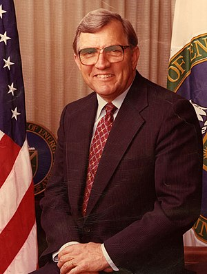 United States Secretary of Energy - Image: U.S. Secretary of Energy James Edwards of South Carolina