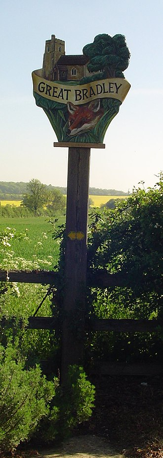 Great Bradley - Signpost in Great Bradley