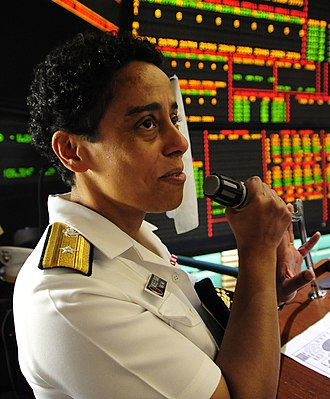 Michelle Howard - Howard gives a speech at the New York Mercantile Exchange in June 2010, during Fleet Week.