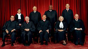 The Supreme Court of the United States as of January 2006, before the retirement of Sandra Day O'Connor.