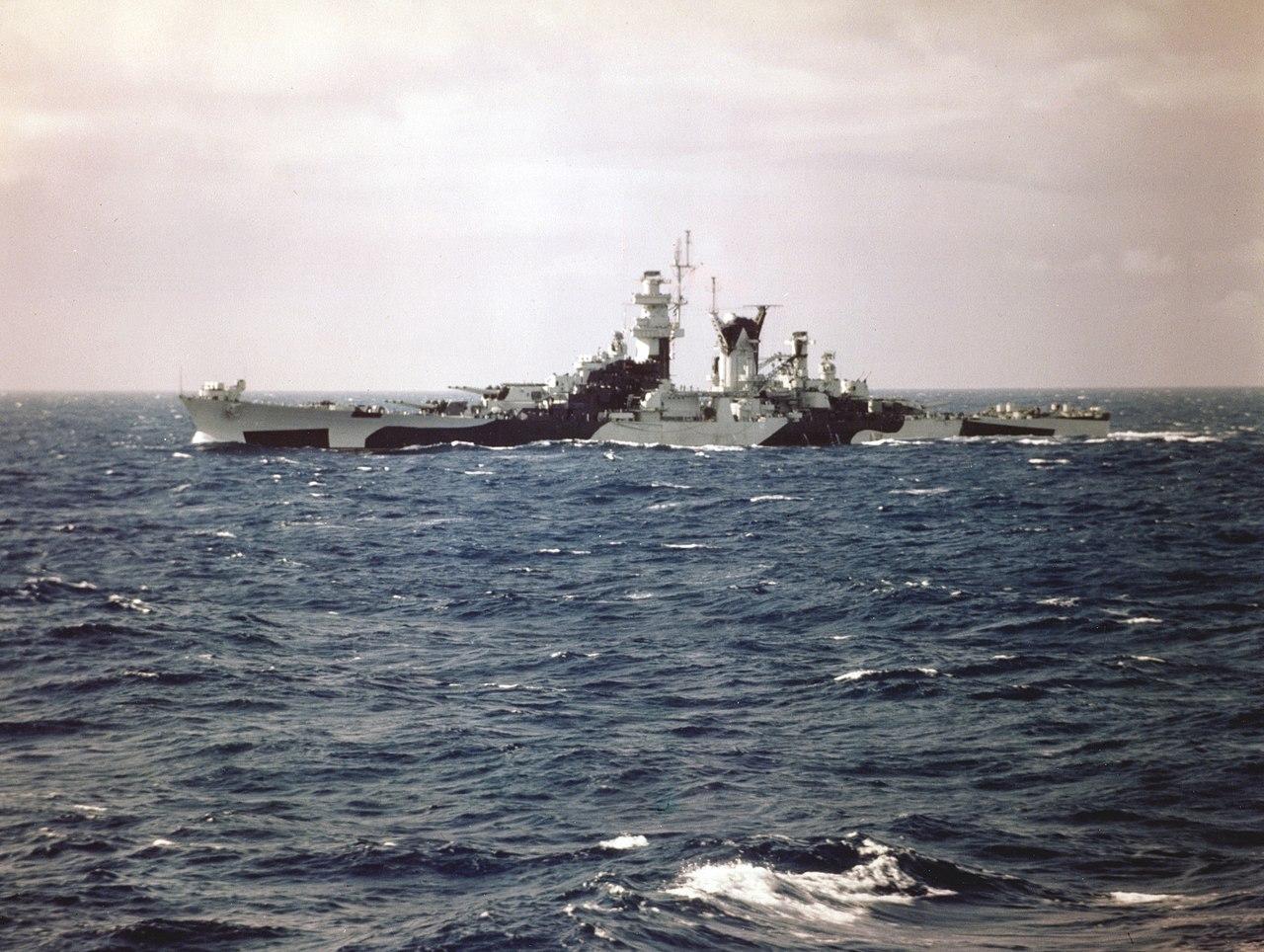 USS Alaska (CB-1) underway in the Atlantic Ocean in August 1944 (80-G-K-5580).jpg