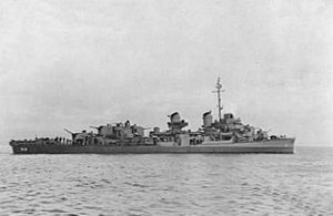 USS Daly (DD-519) - Daly painted in Camouflage Measure 22.