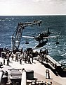 USS Missouri recovers its Vought OS2U Kingfisher aircraft.jpg