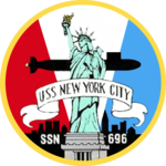 USS New York City (SSN-696) crest.png