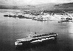 USS Saipan (CVL-48) at anchor off Kingston, Jamaica, in early 1951.jpg