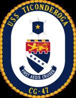 USS Ticonderoga CG-47 COA