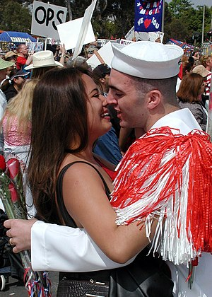 Naval Base San Diego - Image: US Navy 020528 N 1644C 005 USS Stennis homecoming