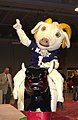 US Navy 031229-N-9693M-001 U.S. Naval Academy (U.S.N.A.) mascot Bill the goat rides a mechanical bull during the EV1.Net Rodeo Pep Rally in Reliant Arena.jpg