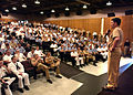 US Navy 040607-N-0141W-002 Master Chief Petty Officer of the Navy (MCPON) Terry D. Scott addresses a crowd of submariners at Naval Base Kitsap-Bangor Theater.jpg