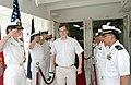 US Navy 050129-N-3372S-022 U.S. Ambassador to Singapore, the Honorable Frank Lavin, departs the Military Sealift Command hospital ship USNS Mercy (T-AH 19).jpg