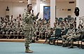 US Navy 060101-M-1226J-006 Chief of Naval Operations (CNO) Admiral Mike Mullen takes questions after addressing Sailors assigned to the II Marine Expeditionary Force (II MEF) in Iraq.jpg