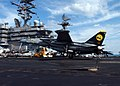 US Navy 060116-N-5248R-008 An F-14D Tomcat assigned to the Tomcatters of Fighter Squadron Three One (VF-31) makes and arrested landing aboard the Nimitz-class aircraft carrier USS Theodore Roosevelt (CVN 71).jpg