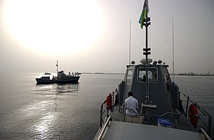 US Navy 060615-N-0411D-014 Djiboutian navy vessels gathered at the port in Djibouti City for a celebration of the newly acquired naval ships.jpg