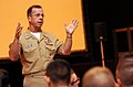 US Navy 060908-N-0696M-052 Chief of Naval Operations (CNO) Adm. Mike Mullen addresses Seabees at an all hands call at Naval Construction Battalion Center Gulfport.jpg