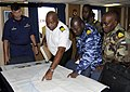 US Navy 080710-G-2443T-004 Members of the Equatorial Guinea Navy go over plans for a mock boarding.jpg