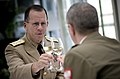 US Navy 090629-N-0628M-227 Adm. Mike Mullen, chairman of the Joint Chiefs of Staff, presents a toast at a luncheon hosted by Gen. Frankciszek Gagor, chief of the General Staff of the Polish Armed Forces.jpg