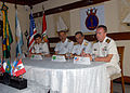 US Navy 110415-N-ZI300-040 Capt. Jose Barradas of Mexico, Vice Adm. Carlos Autran De Oliviera Amaral and Rear Adm. Edlander Santos of Bazil, and Ca.jpg