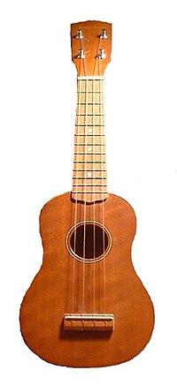 Un ukulele hawaiano.