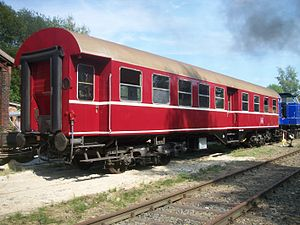 Umbau-Wagen - Umbauwagen of the original Class AB4yg. (painted red in the style of the ET 65)