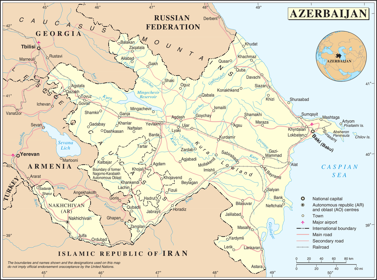 Borders of Azerbaijan - Wikipedia