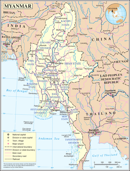Myanmar Wikipedia - Burma map hd pdf
