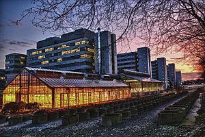 Universität Bielefeld mit Gewächshäusern