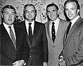 Unidentified, unidentified, Mayor Raymond L. Flynn, Boston Herald publisher Pat Purcell (9516891891).jpg