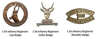 1st SA Infantry Regiment - 1 SA Infantry Regiment Insignia